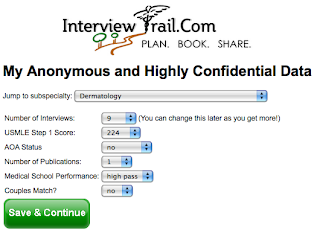 InterviewTrail com -- Residency Rankings, Reviews and Interviews