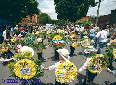 el desfile de silleteritos