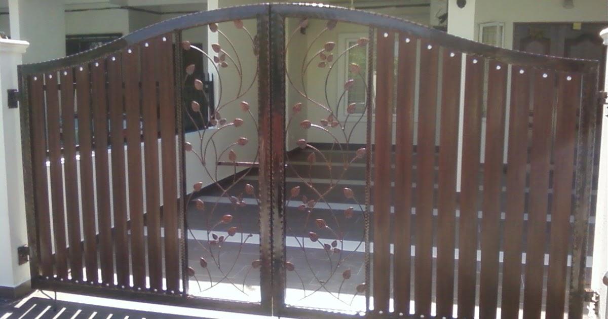 Gates Wrought Iron Fence Poly Skylight Awning Autogate Malaysia Swing Gate