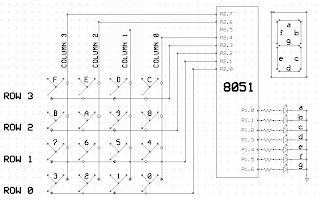 8051 MicroController: 4x4 keypad ineterfacing with 8051 uC
