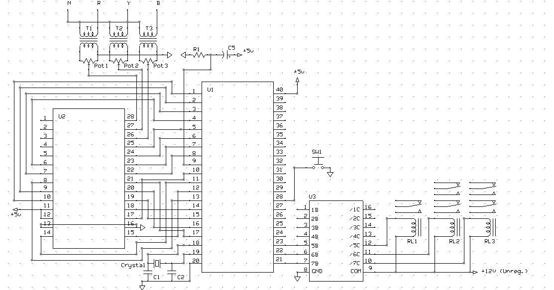 8051 MicroController: Induction motor star-delta starter