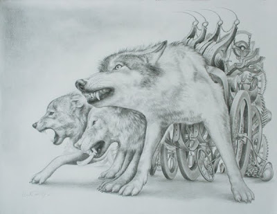 Transhuman images: Wolves