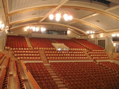 Inside Leicester De Monfort Hall, Leicester