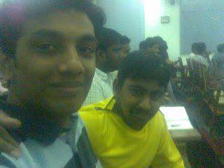 Venkat and me at the BarCamp -- CUSAT