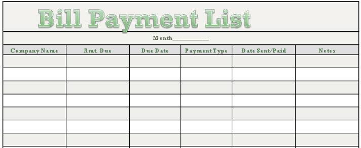 Rhiana Reports Free Downloadable Bill Payment Tracker - bill calendar