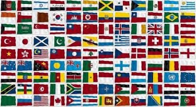 110 bandiere del mondo in vettoriale