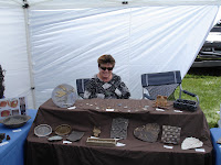 Linda Starr's ceramics booth at art and craft mountain festival