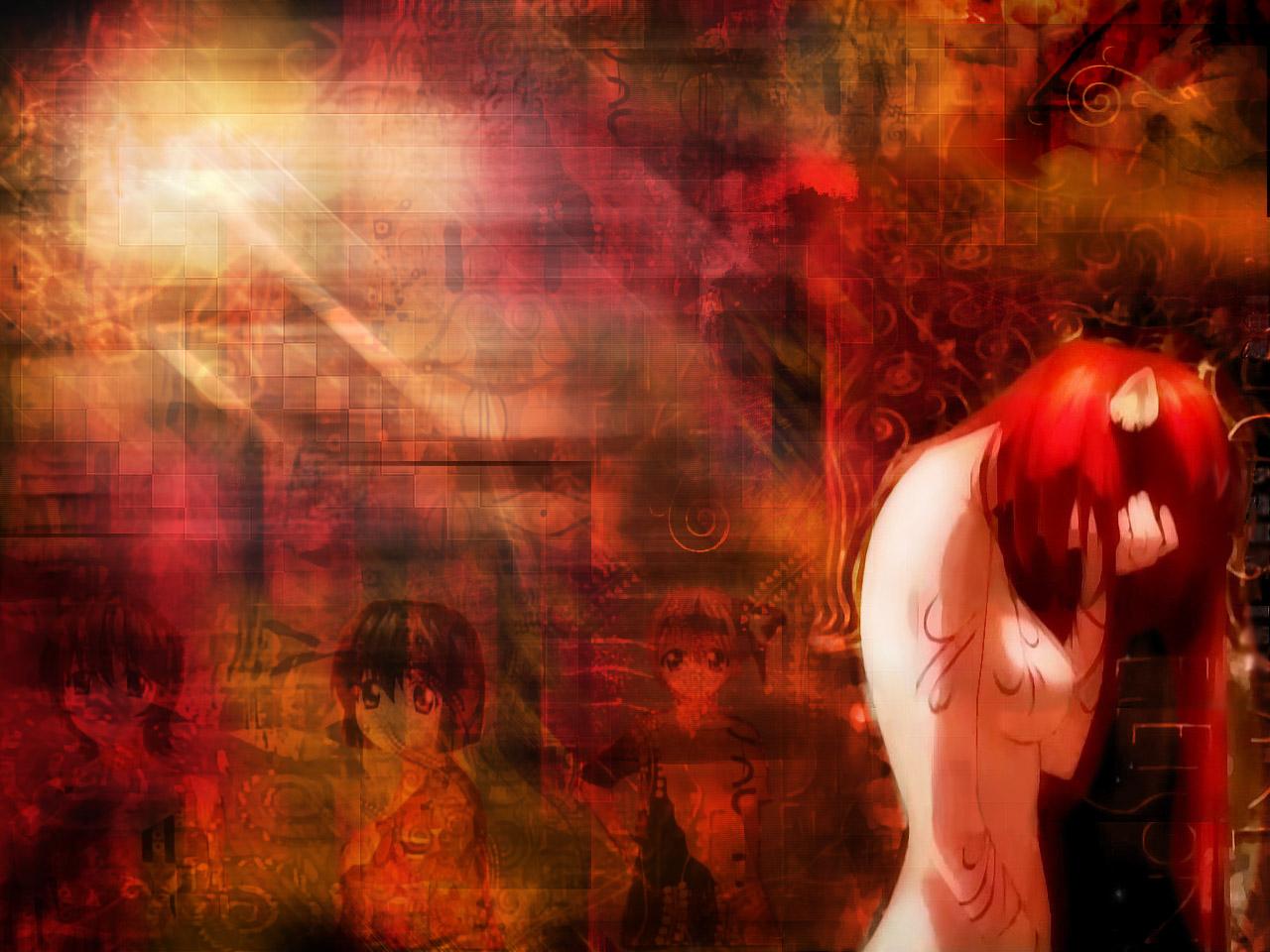 Girl In Blood Wallpaper Nekotakuanime S Blog Elfen Lied