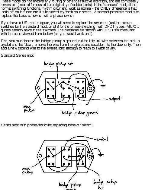 Fender Pickups Wiring Diagram 110 Volt Male Plug Music Wrench: Jaguar Mod