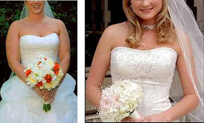 Many Times Brides Look As If They Re Hiding Behind Their Flowers The Bodice Of Your Wedding Gown Is Beautiful So Why Hide It