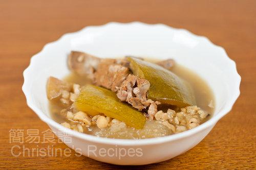 冬瓜去濕湯 White Gourd with Pearl Barley soup02