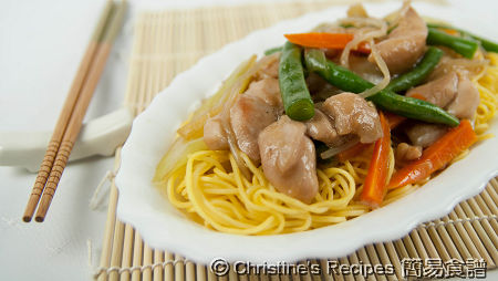 雞肉炒麵 Fried Noodles with Chicken02