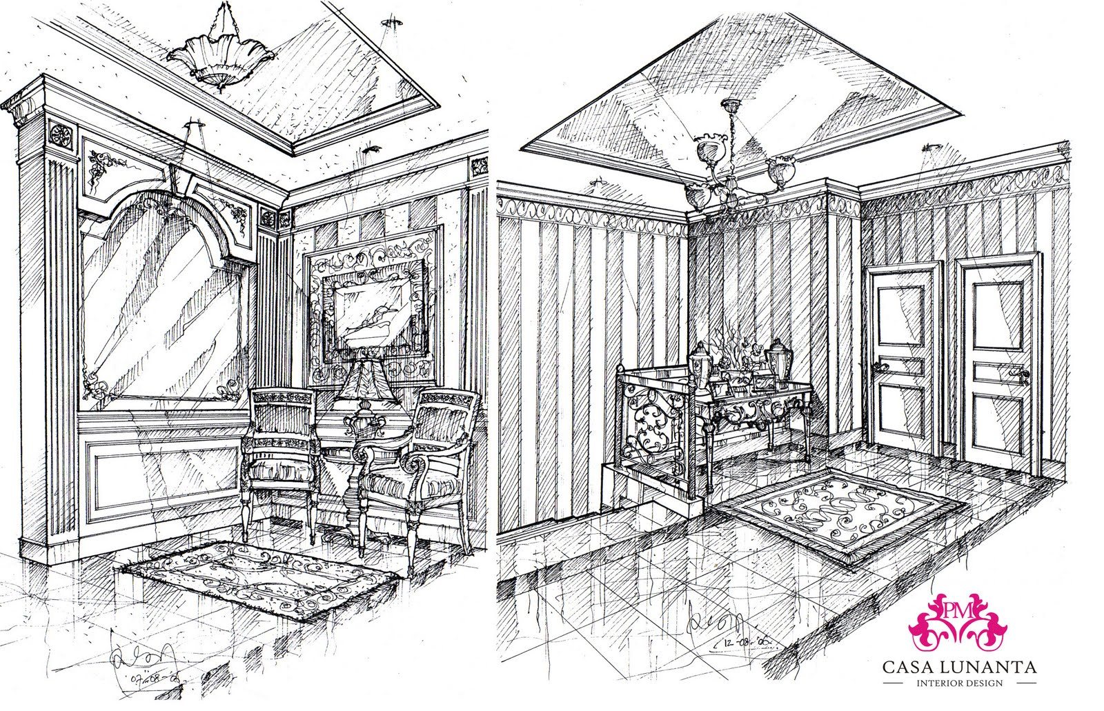 Welcome to Casa LunantaInterior Design Perspective Drawings