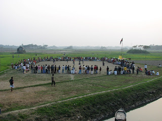 A football match is going on in Trimohony amidst of green field