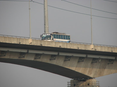 A bus on the bridge
