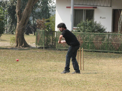 Ankan vi is in action in the cricket match