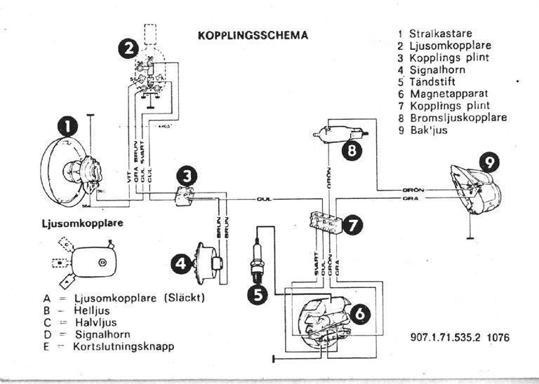 kopplingsschema puch maxi. Black Bedroom Furniture Sets. Home Design Ideas