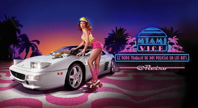 Promoción de Miami Vice del canal de cable Retro