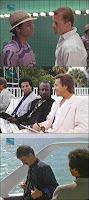 Bruce Willis, Miles Davis y Frank Zappa en Miami Vice
