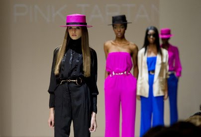 a3cb9e1feedf3 Pink Tartan is a groovy spin on classic glamour. Their spring-summer 2011  collection was unveiled back in October 2010 at Toronto s LG Fashion Week  and ...