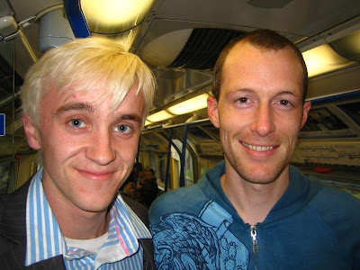 tom felton and emma watson. Tom Felton spotted on train!