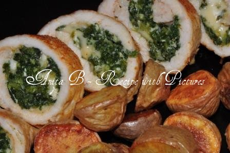 Recipe With Pictures Baked Chicken Spinach Rolls
