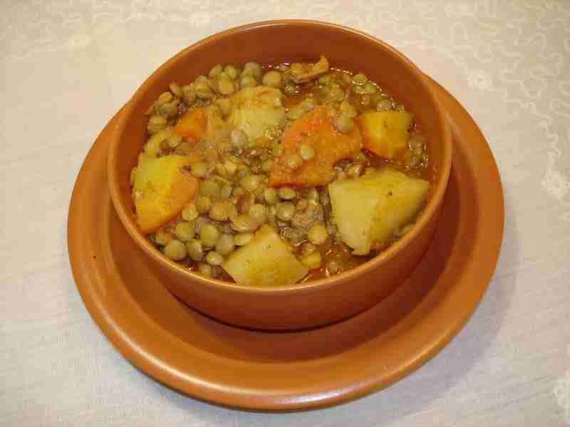 Las recetas de Silvia Cazuela vegetariana lentejas y