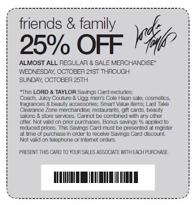 picture about Lord and Taylor Printable Coupon named 25 off lord and taylor coupon : Family members lodge specials sydney