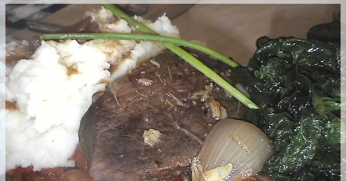 Brais de palette de boeuf l 39 ail r ti sur lit de tomates r ties au four - Cuisiner un roti de boeuf au four ...