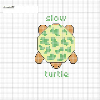 Artecy Cross Stitch. Turtle Counted Cross Stitch Pattern to print