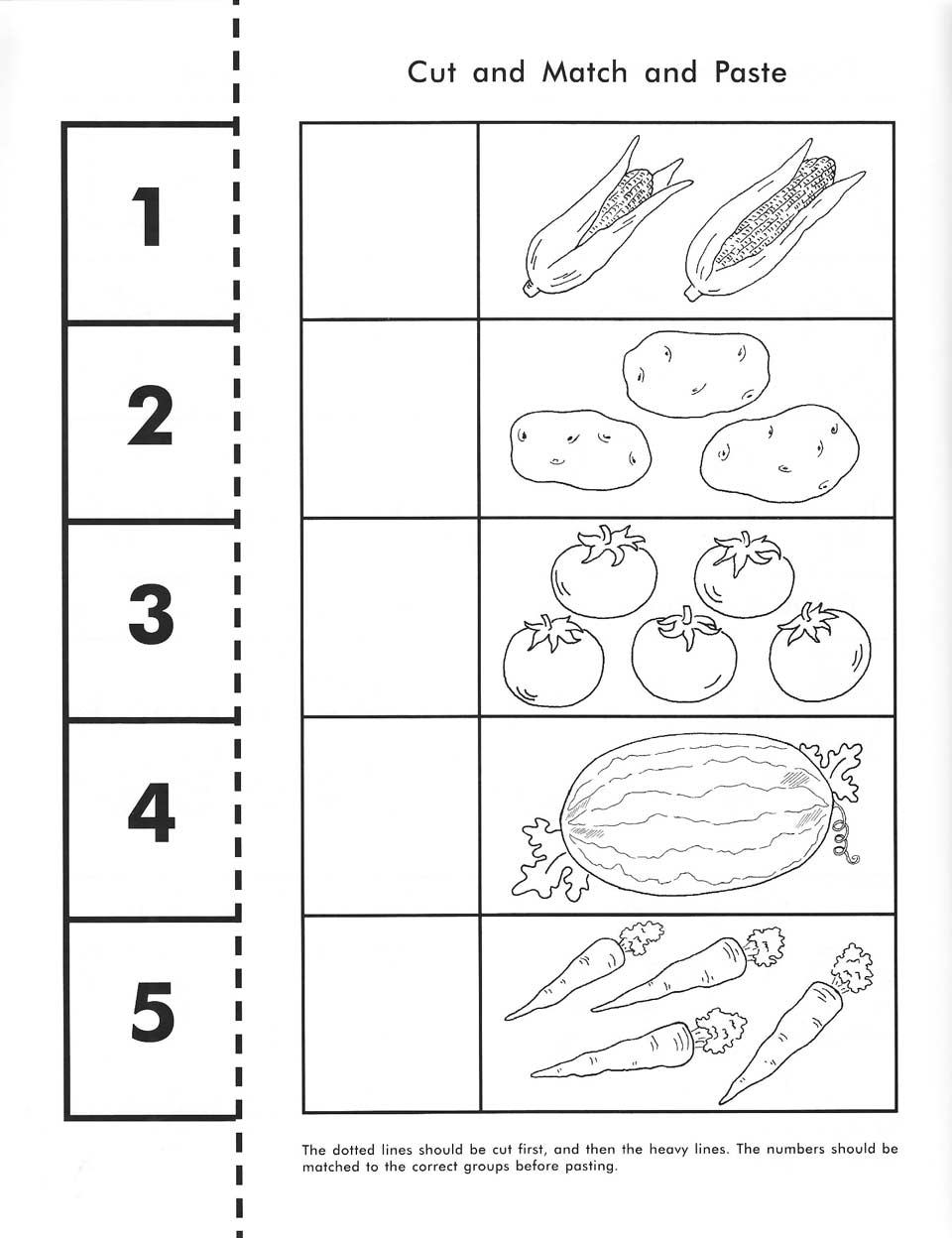 Counting Worksheets Cut And Paste Worksheet Kids – Cut and Paste Math Worksheets