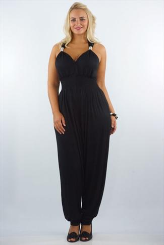 """c97b35de4d5f26 ... sizes from classic black to trendy leopard. All women have heard about  the benefits of a """"little black dress"""". A black jumpsuit is all that and  more."""