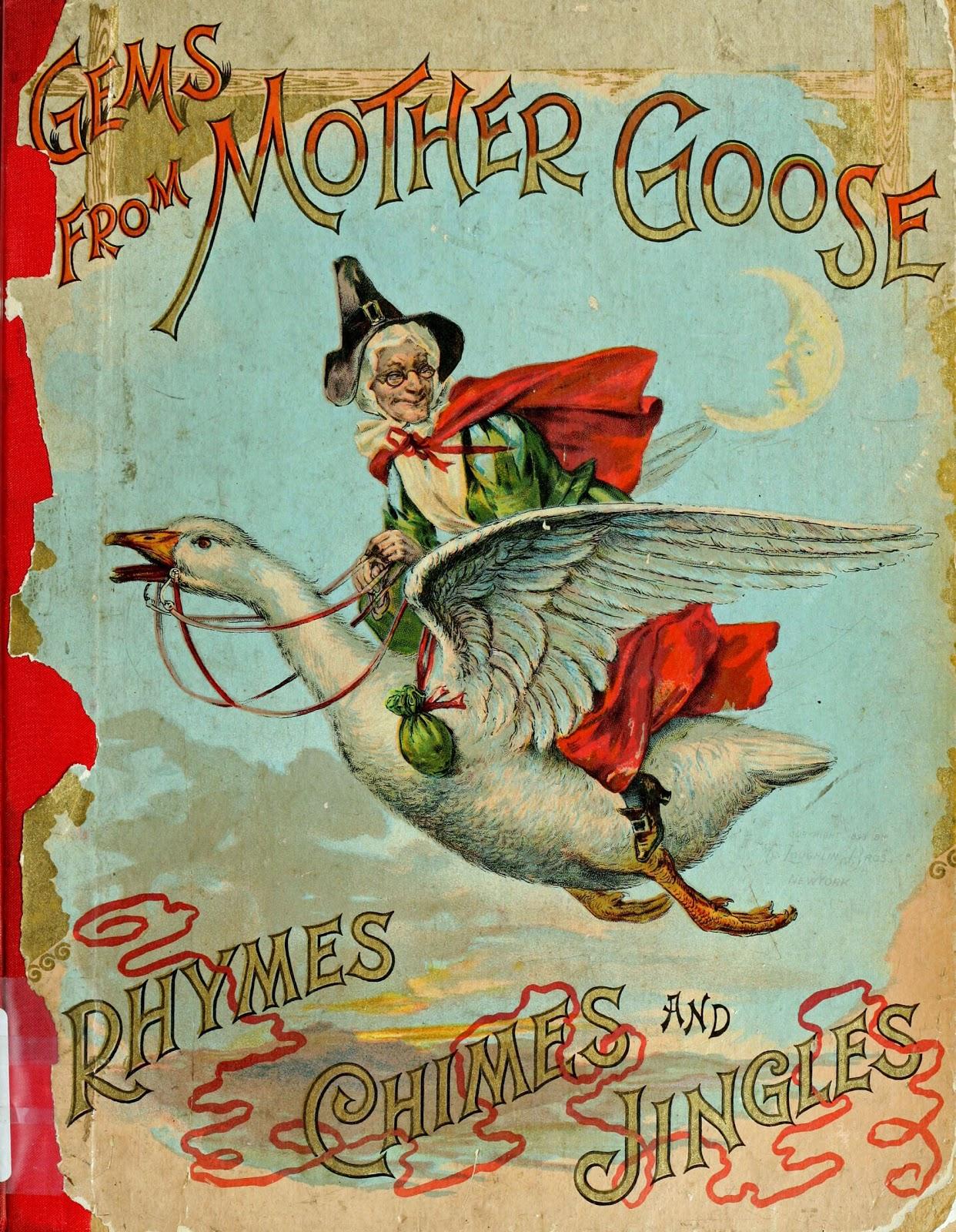 Book Cover Nursery Art : Vintage ephemera children s book illustration mother