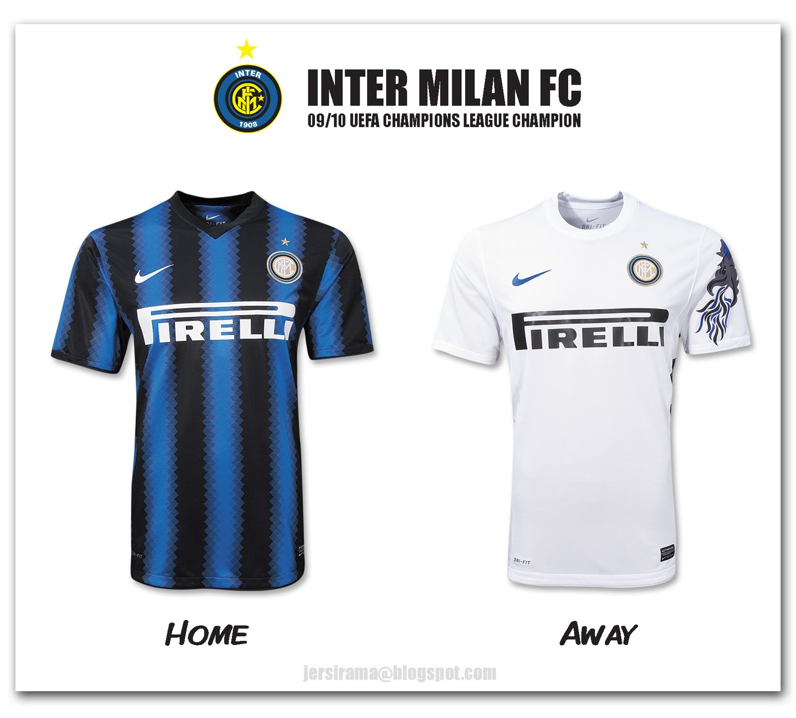 784bc1235 Inter Milan Home   Away Jersey 2010 2011