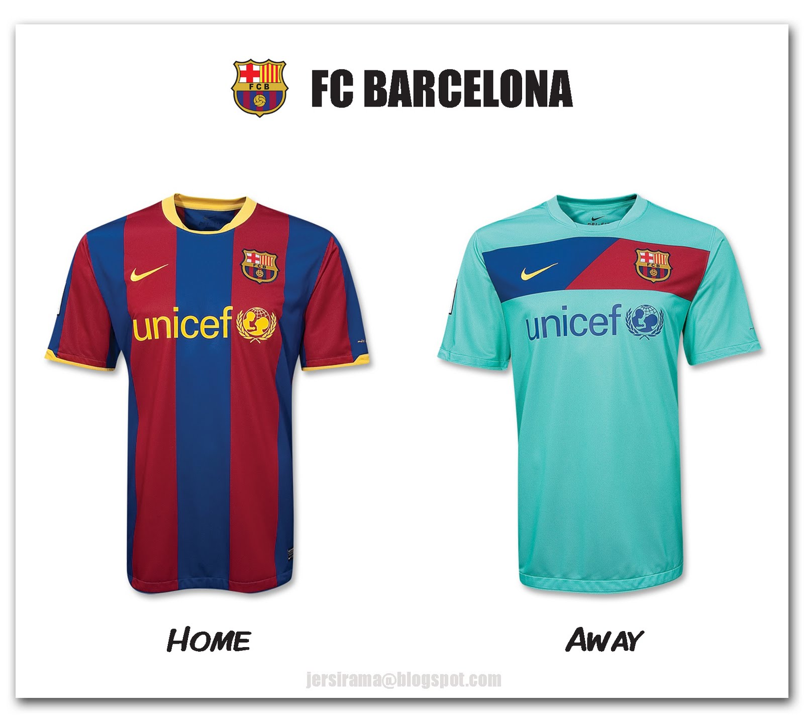 44cf882e8 Barcelona Home   Away Jersey 2010 2011