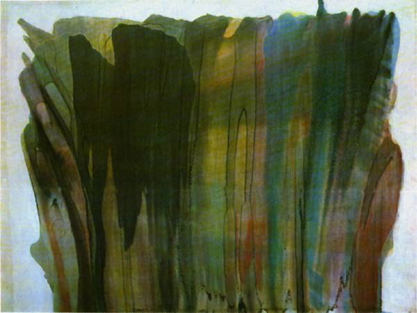 unwashed and somewhat slightly dazed morris louis paintings