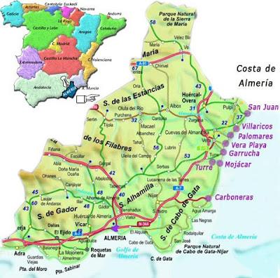 almeria mapa Lugares de España.: Almeria (Mapa) almeria mapa