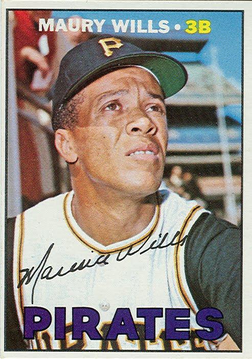 1967 Topps Baseball Maury Wills Rookie Card