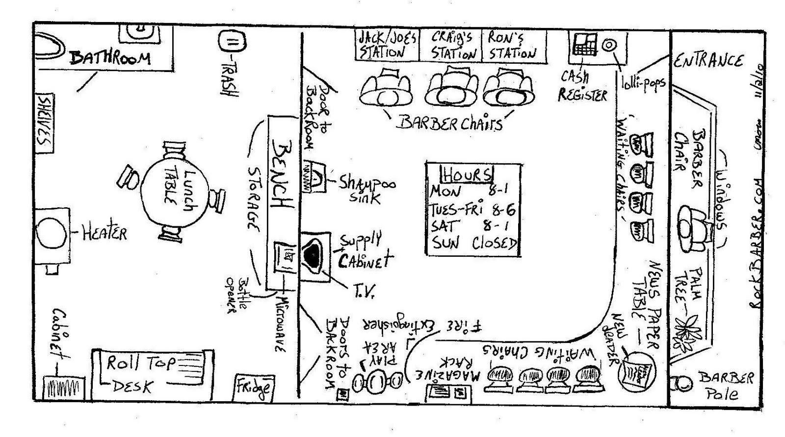 Craig S Barbershop Floor Plan
