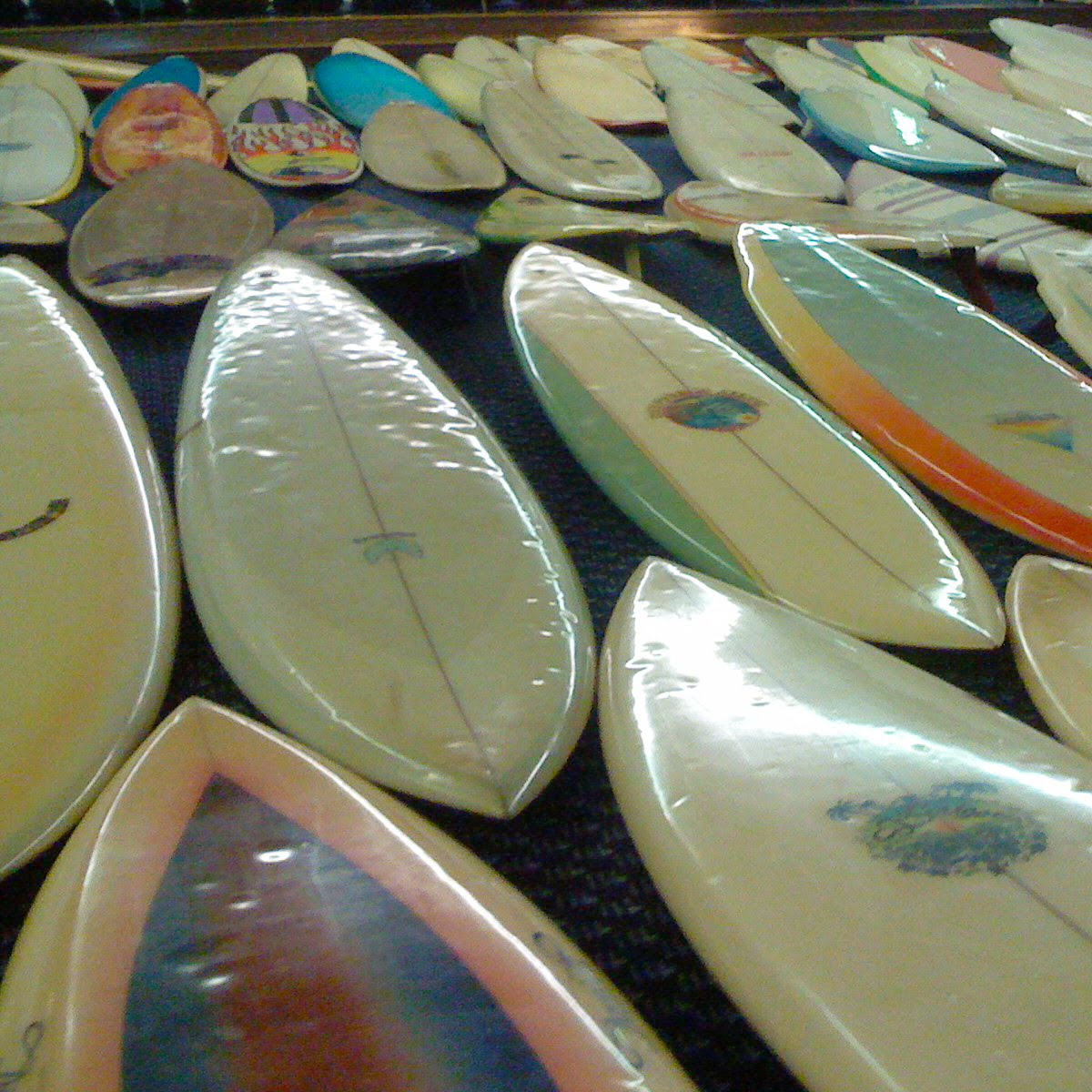 Board Collector Mick Mock S Surf Auction Of Vintage Surfboards