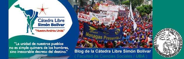 Blog de la Cátedra Libre Simón Bolívar // FSoc UBA