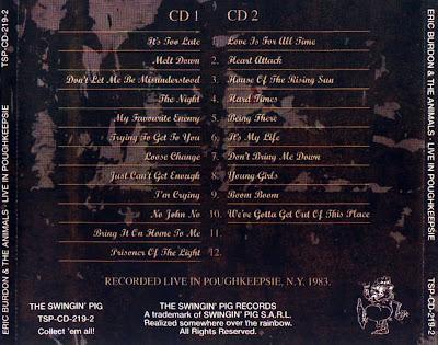 Eric Burdon & The Animals: Live In Poughkeepsie  Poughkeepsie, NY