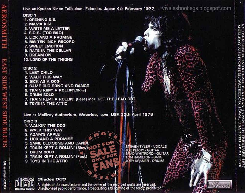 Aerosmith  East Side West Side Blues  Fukukoa  Japan 1977