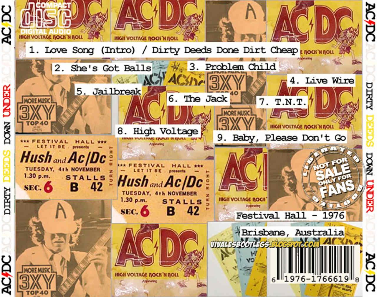 6a25aa82c1 AC/DC: Dirty Deeds Down Under. Festival Hall, Brisbane, Queensland,  Australia - December 18, 1976. (Mp3 @320 kbps & FLAC)