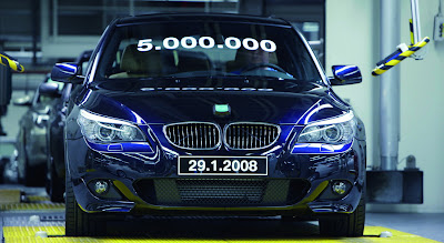 BMW Built 5 millionth 5-Series Car at January