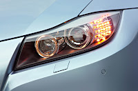 2009 BMW 3-Series Official Pictures Headlights Closeup