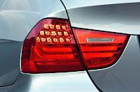 2009 BMW 3-Series Official Pictures Taillights Closeup