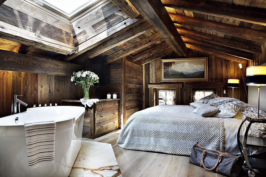 Boiserie c sulle montagne il calore del legno - Camino in camera da letto ...