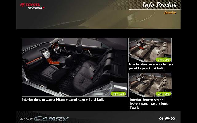 Interior Toyota Camry 2010