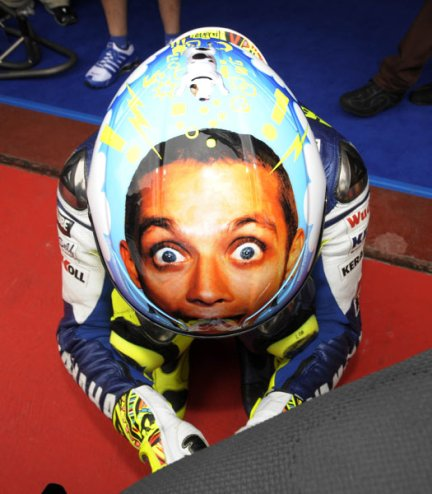 Valentino Rossi S Hilarious Helmet Designs Outside The Match
